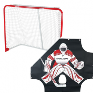 "Bauer Hockey Goal and Sharpshooter 54"" x 44"" Pack"