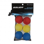 Bauer Mini Foam Balls – 6 Pack